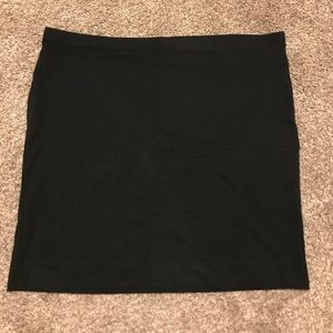 {h&m} black tight mini skirt
